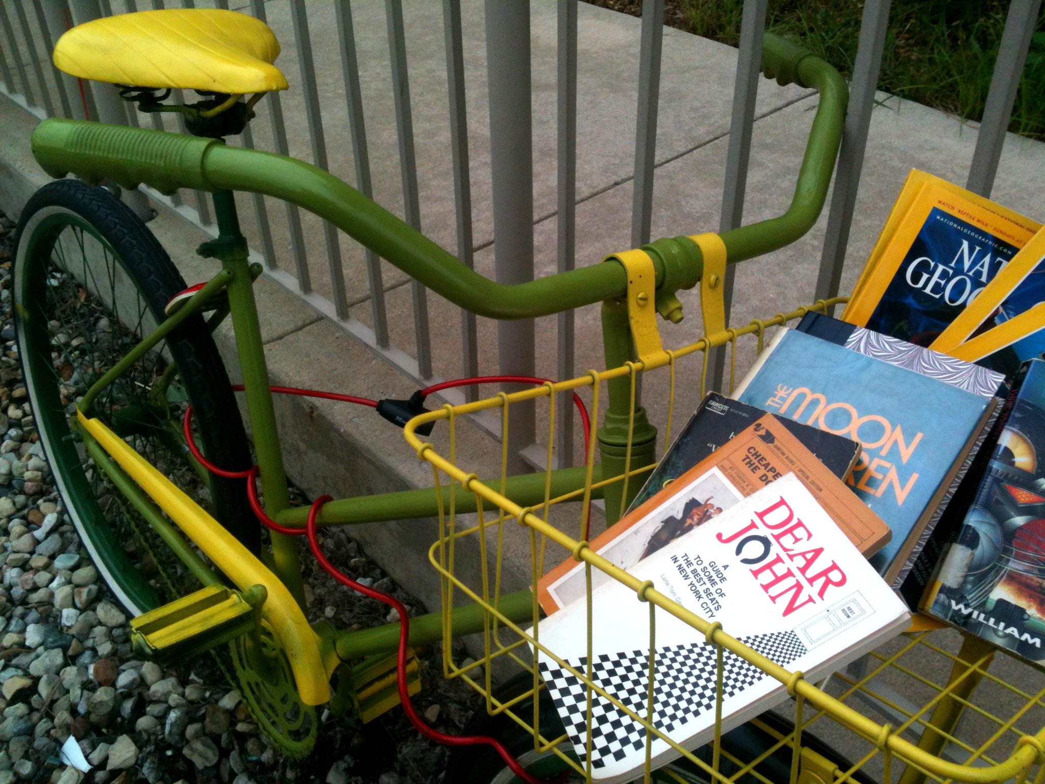 Artsy Bike with Books